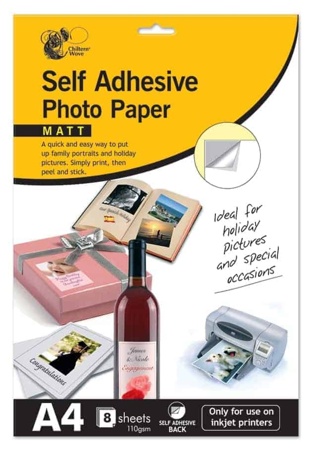 Chiltern Stationery A4 Self-Adhesive Photo Paper