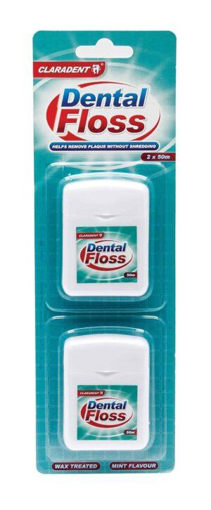 Claradent Dental Floss-2Pk