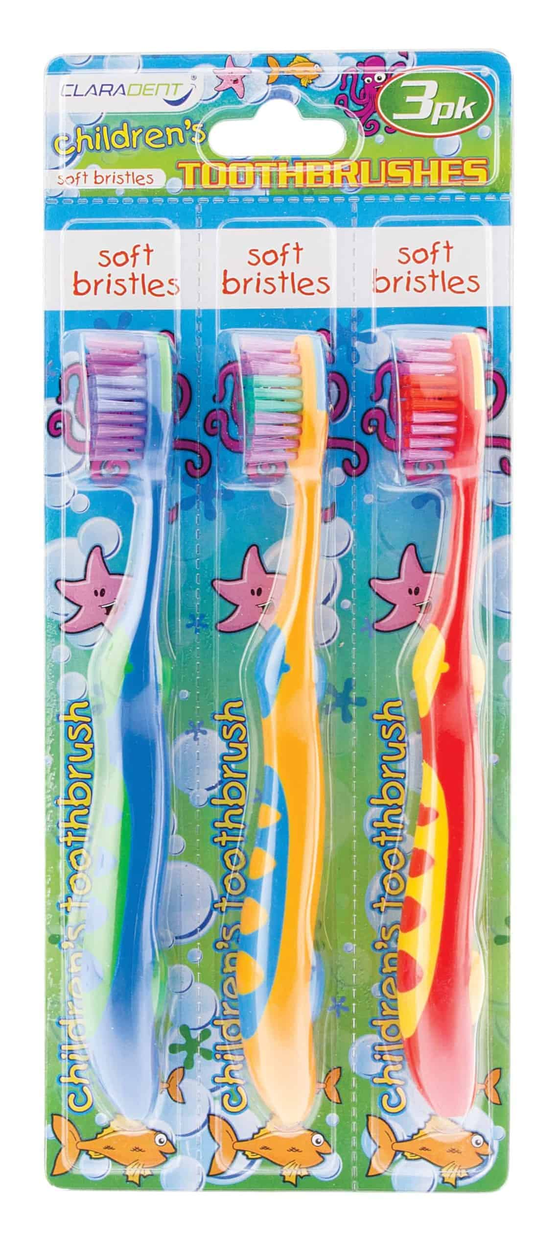 Claradent Toothbrushes Childrens 3Pack