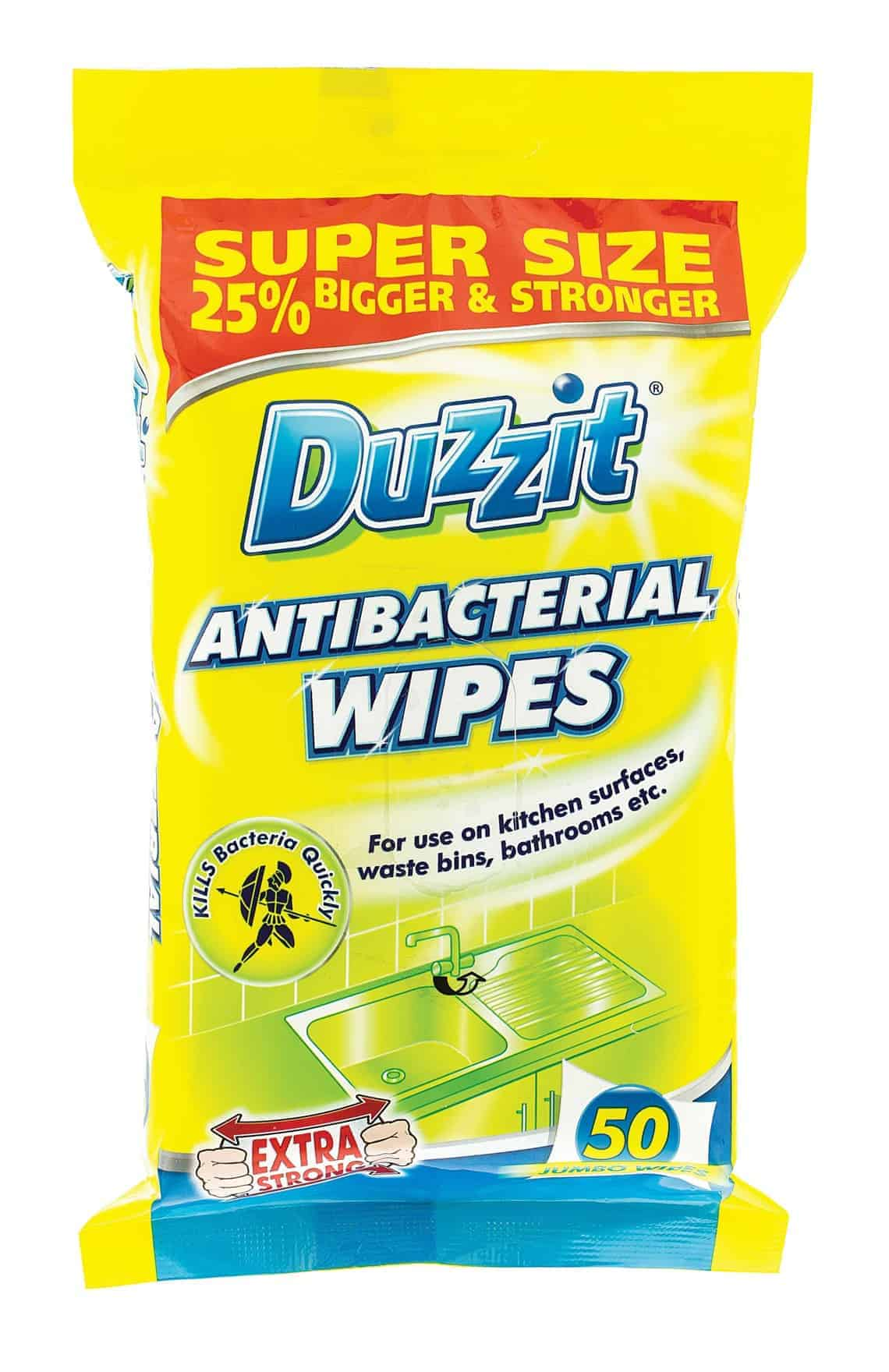 Duzzit Antibacterial Wipes 50Pk