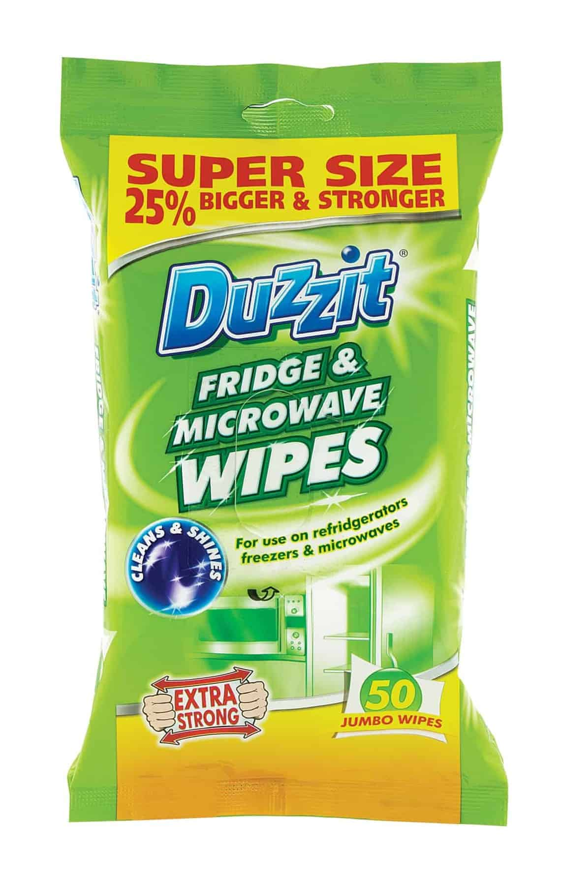 Duzzit 50pk Fridge & Micro Wave Wipes
