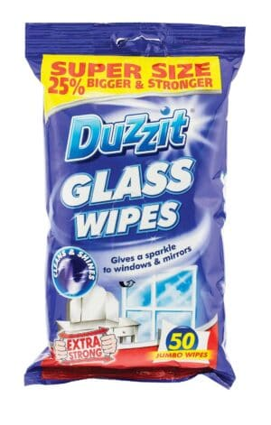 Duzzit 50pk Glass Wipes