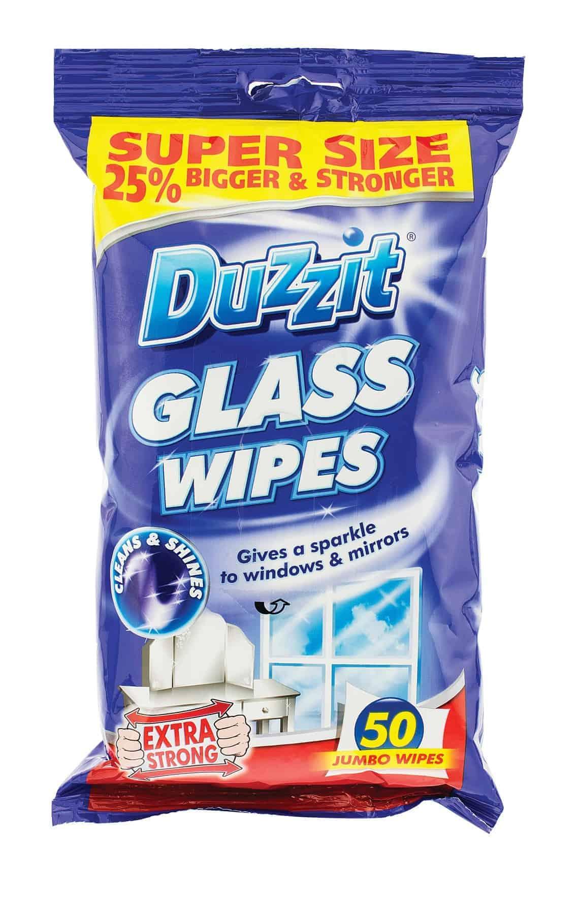 Duzzit 50pk Glass Wipes