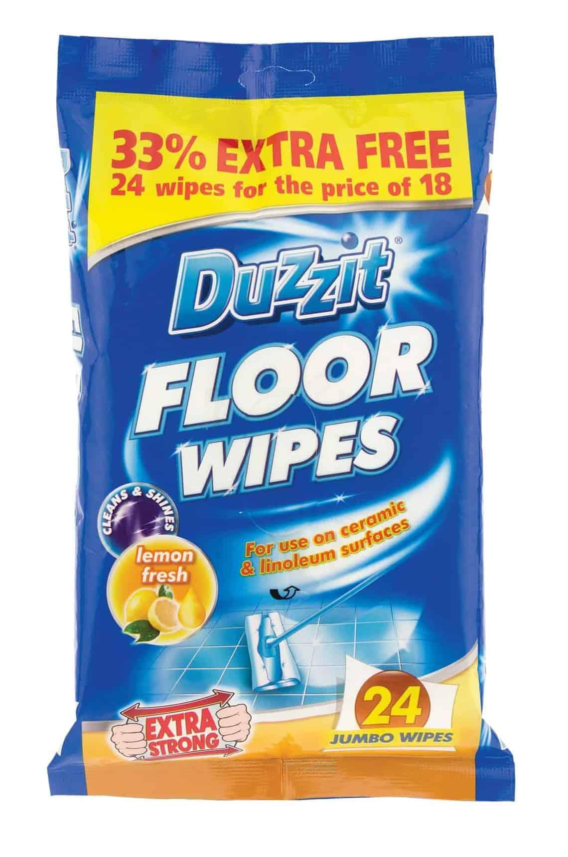 Duzzit 24pk Wet Floor Wipes
