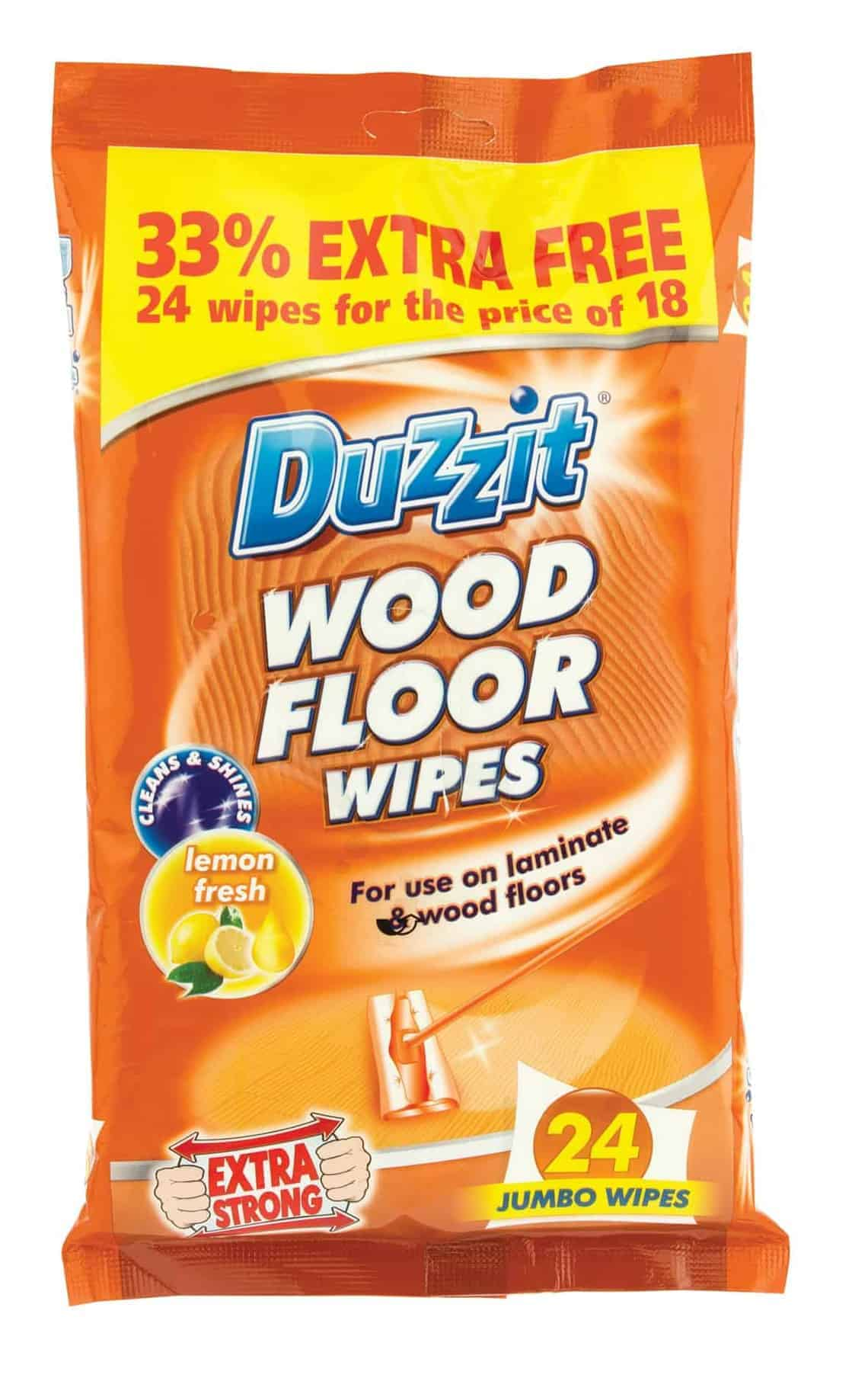 Duzzit Duzzit 24Pk Wood Floor Wipes