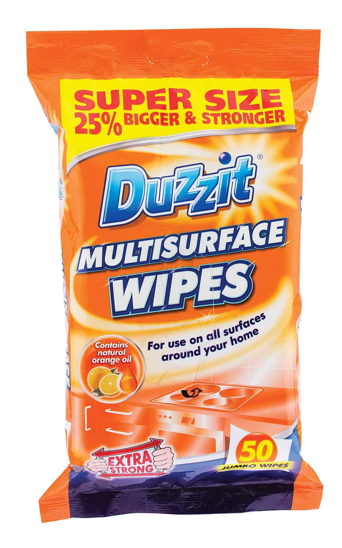 Duzzit 50pk Multi-Surface Wipes
