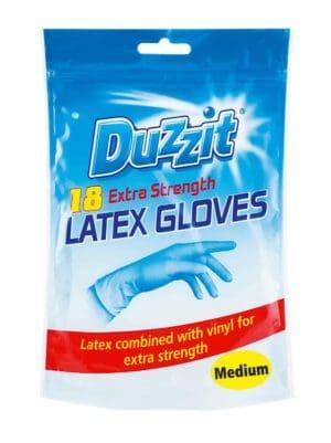 Duzzit Latex Gloves-18Pk Medium