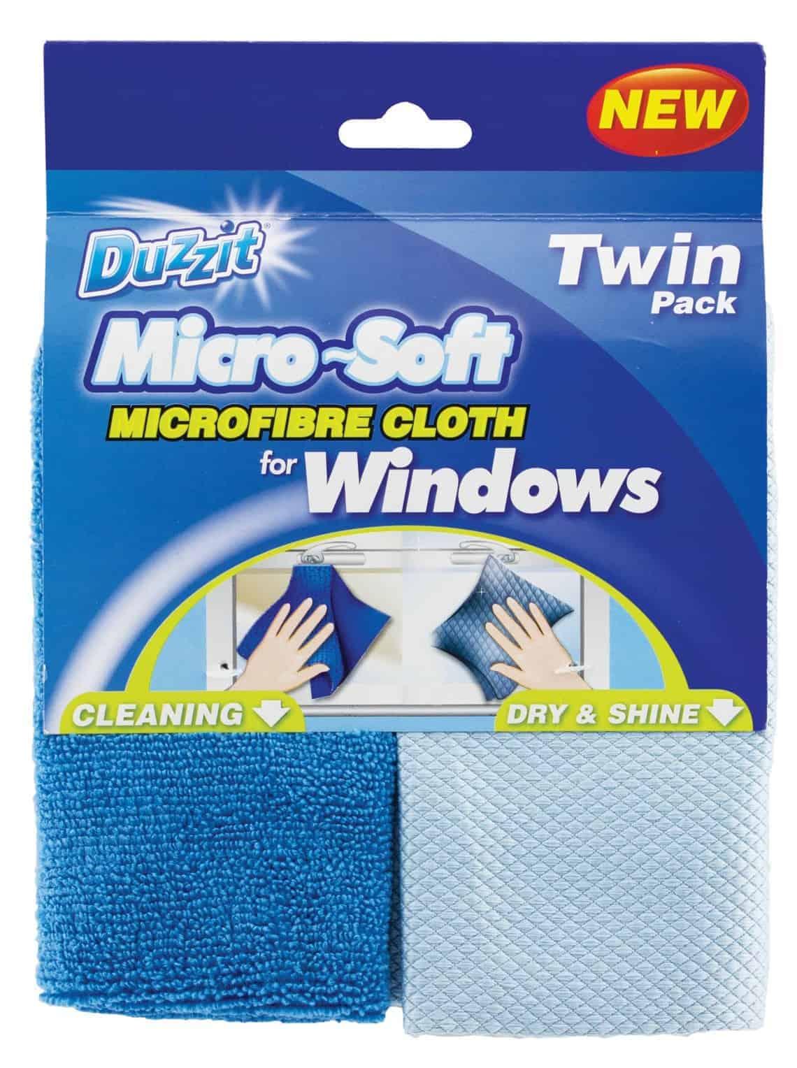 Duzzit 2Pk Micro Window Cloths