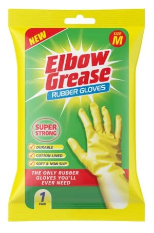 Elbow Grease Super Strong Rubber Glove Medium 1Pk