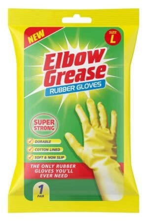 Elbow Grease Super Strong Rubber Glove Large 1Pk
