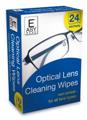 Easy Read Optical Lens Cleaning Wipes 24 Sachets