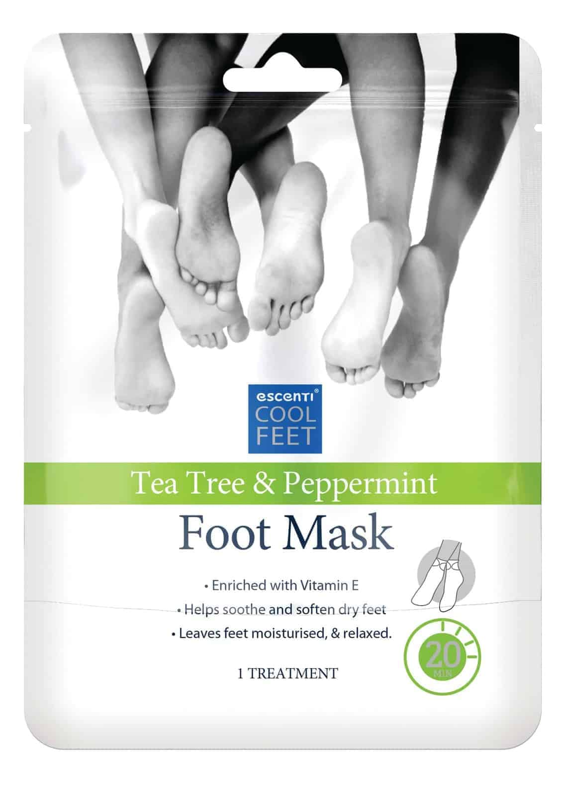 Escenti Escenti Cool Feet Tea Tree & Peppermint Foot Mask