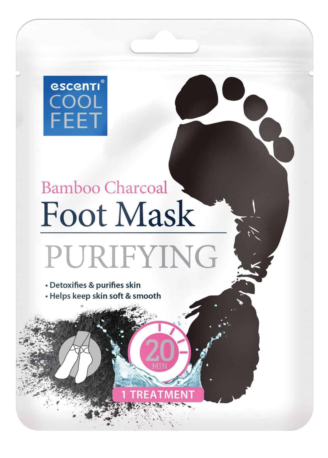 Escenti Cool Feet Bamboo Charcoal Foot Mas