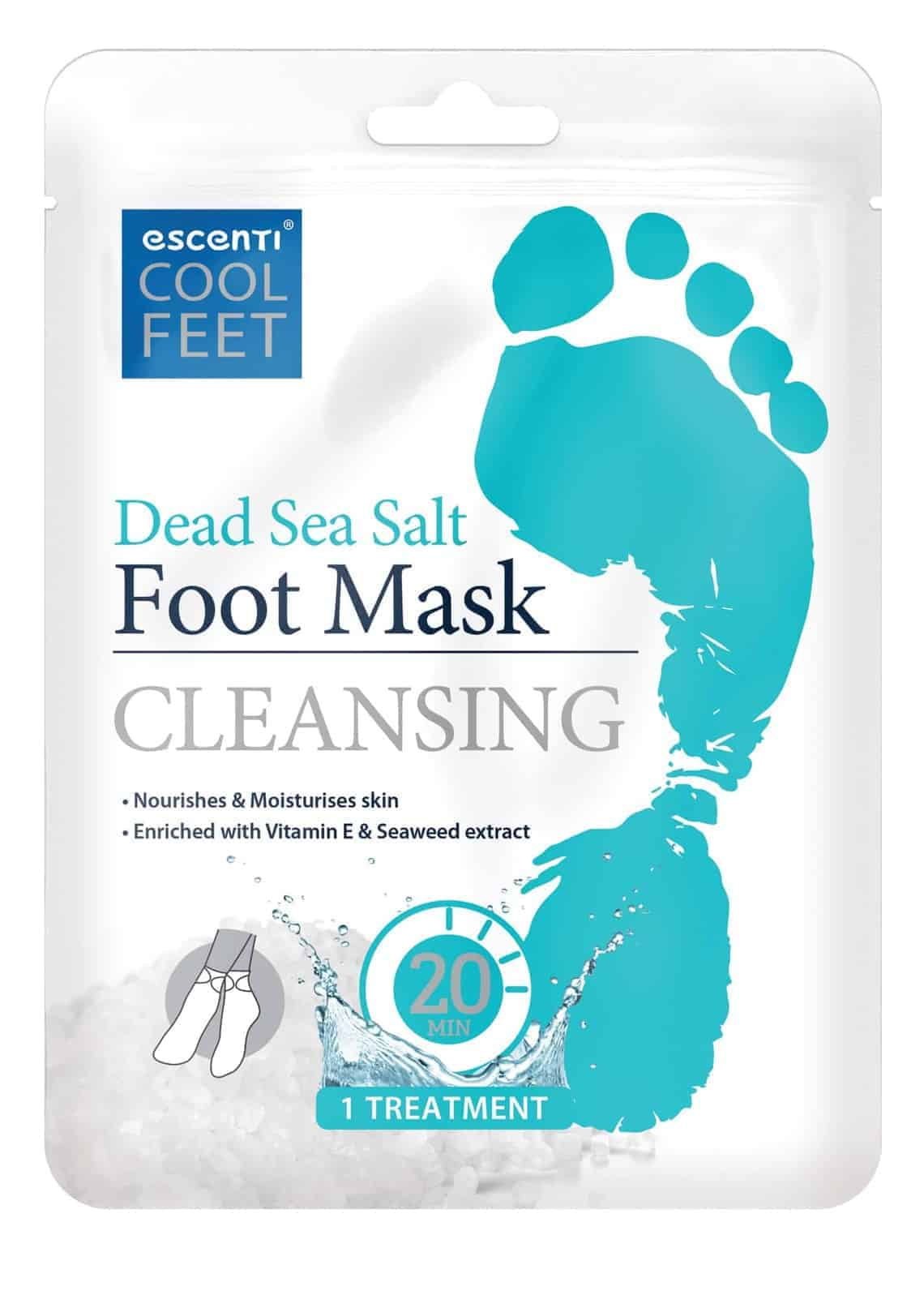Escenti Cool Feet Dead Sea Salt Foot Mask