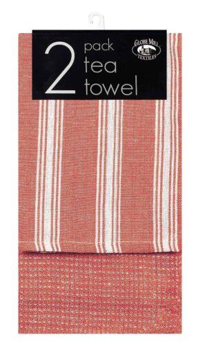 Globe Mill 2pk Assorted Tea Towels