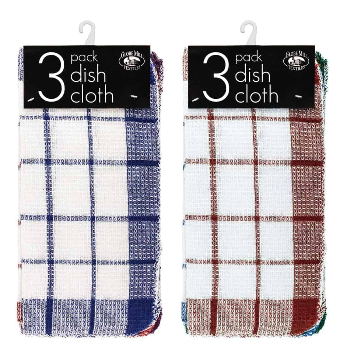 Globe Mill 3 Pack Dish Cloths