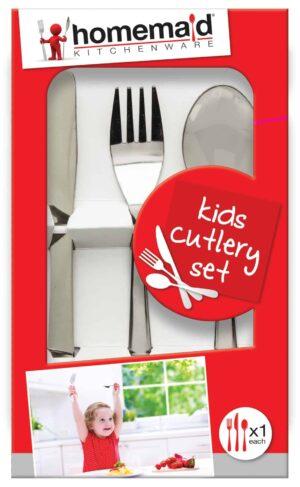 Home Maid 3pc Kids Cutlery Set
