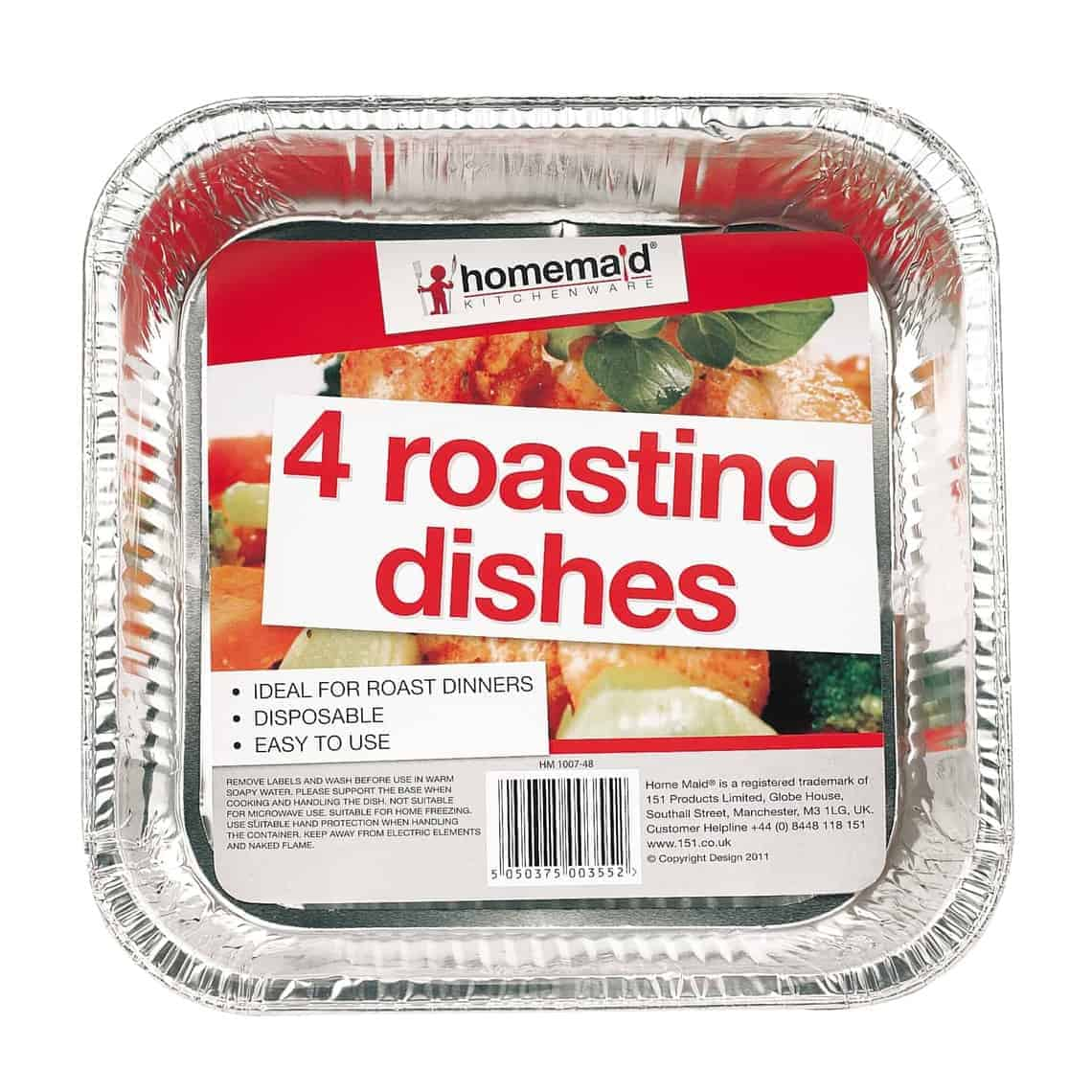 Home Maid Foil Roasting Dishes 4Pk
