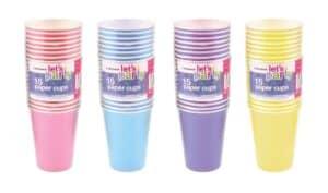 15Pk Pastel Paper Cups