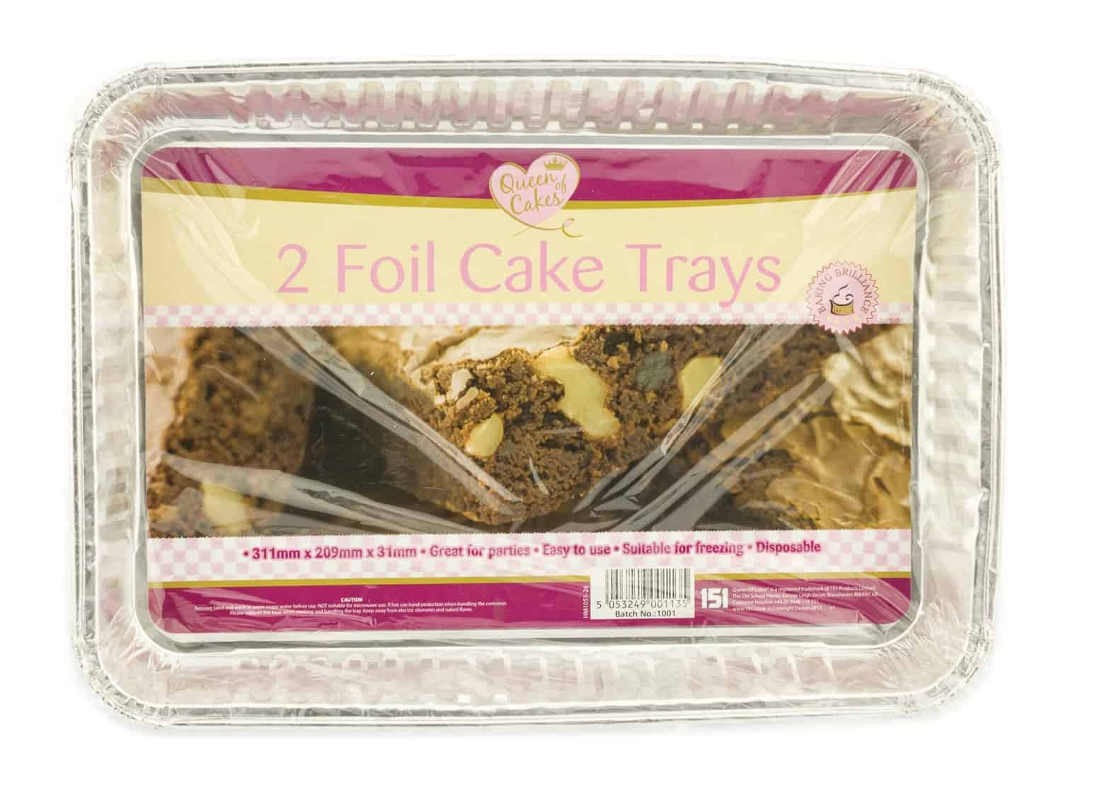 Home Maid 2pk Foil Cake Tray