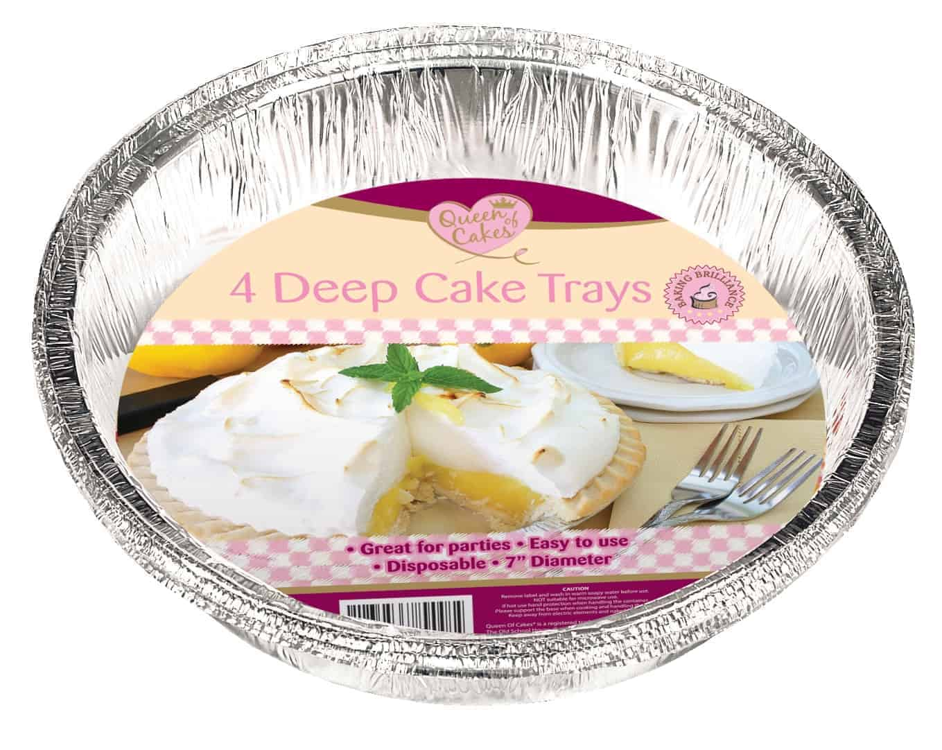 Homemaid Foil Deep Cake Trays-4Pk