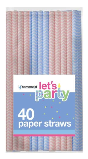 40 Pack Zig Zag Paper Straws