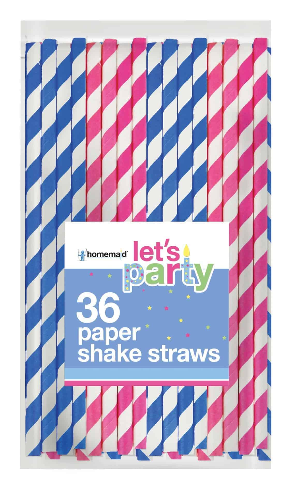 36Pk Striped Paper Straws