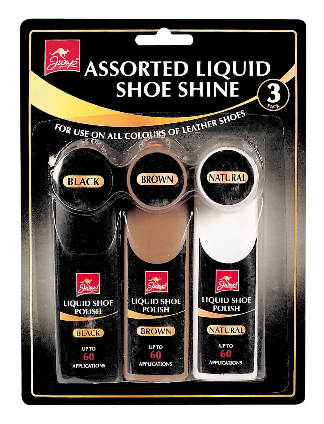 Jump Liquid Shoe Polish-3Pk-151