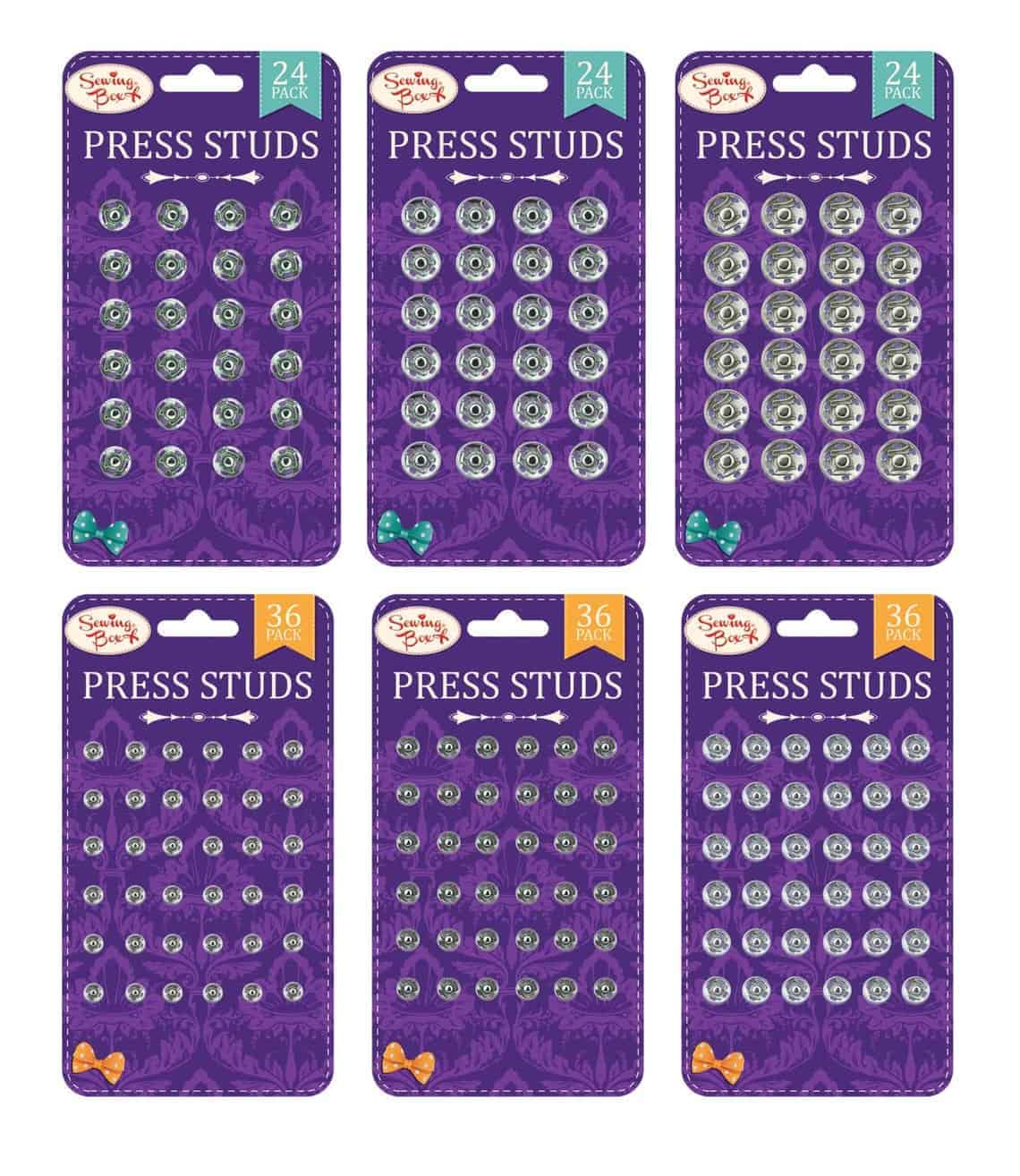 Sewing Box  Press Studs