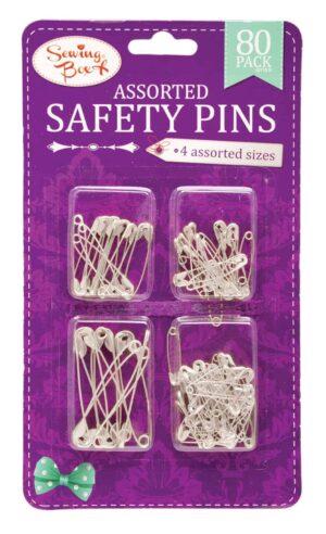 Sewing Box Silver Safety Pins