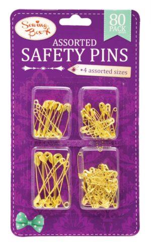 Sewing Box Gold Safety Pins