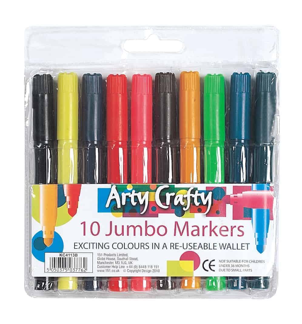 Arty Crafty Jumbo Markers-10Pk