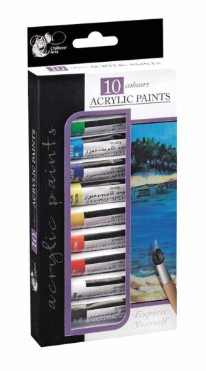 Chiltern Arts Acrylic Paints 10Pk