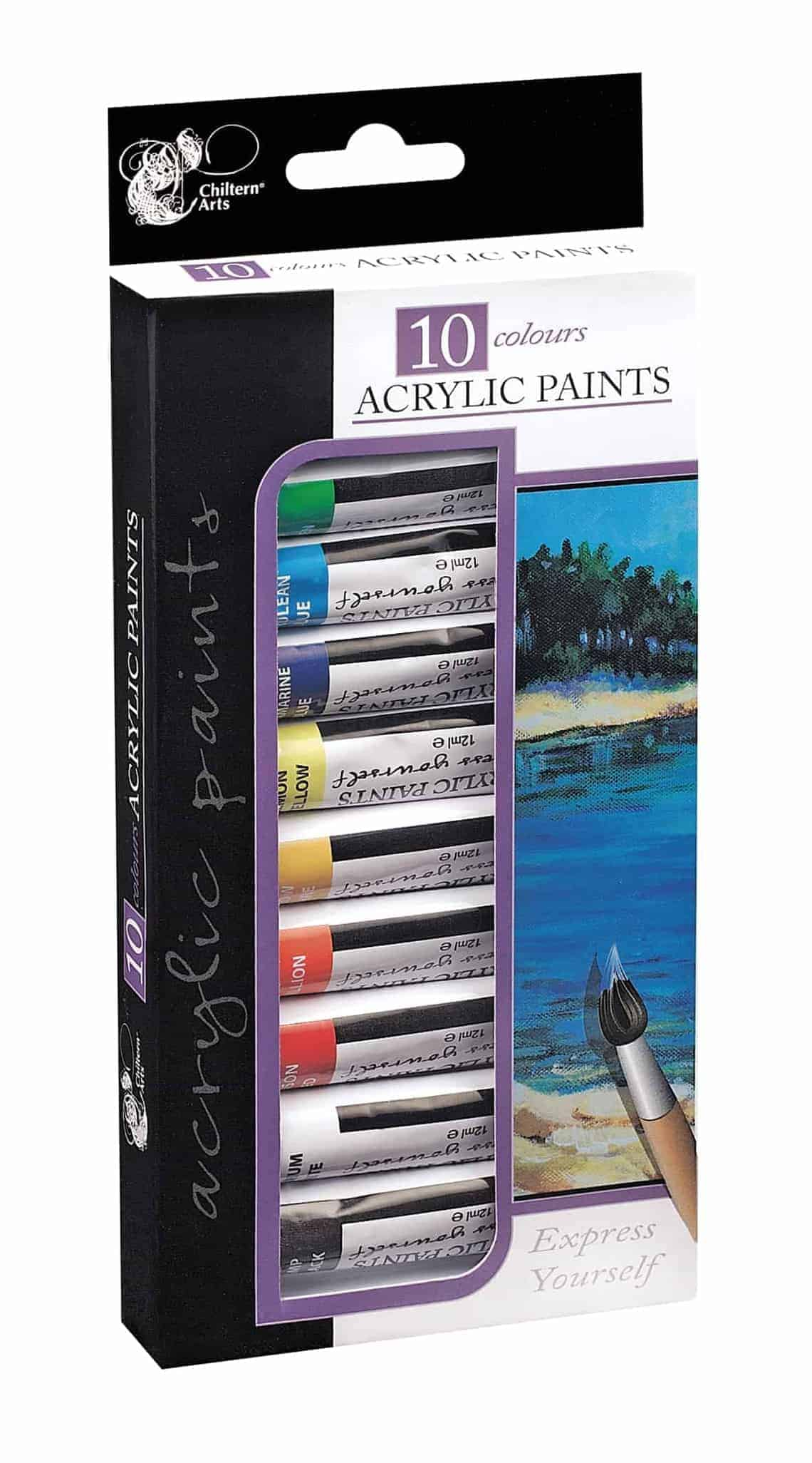 Chiltern Arts Acrylic Paints 10Pk