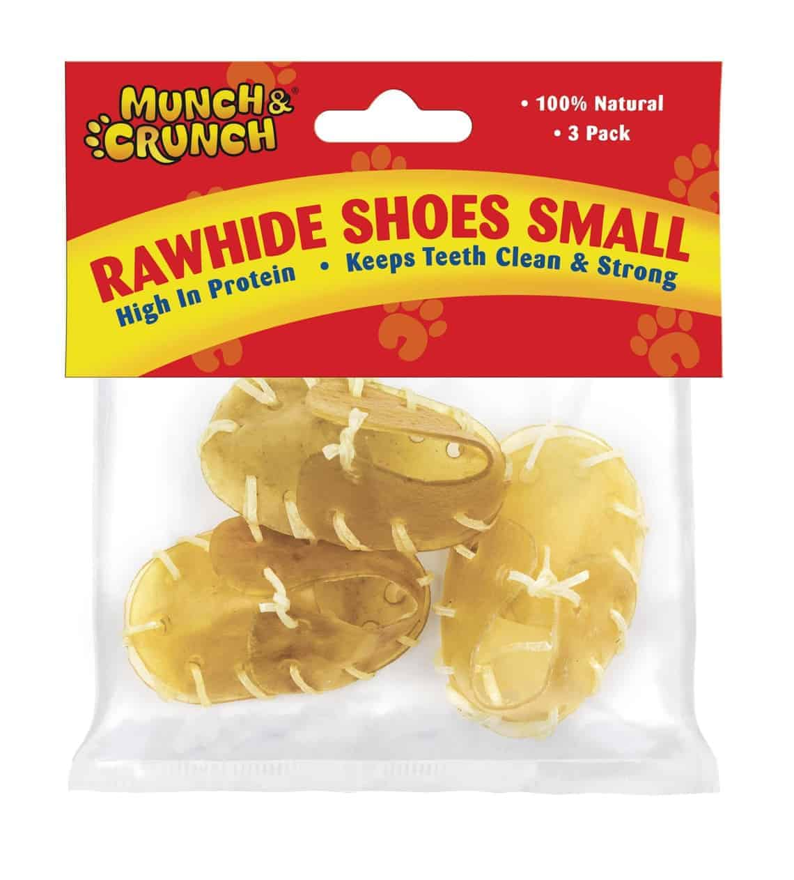 Munch Crunch Rawhide Shoes - 3 Pk