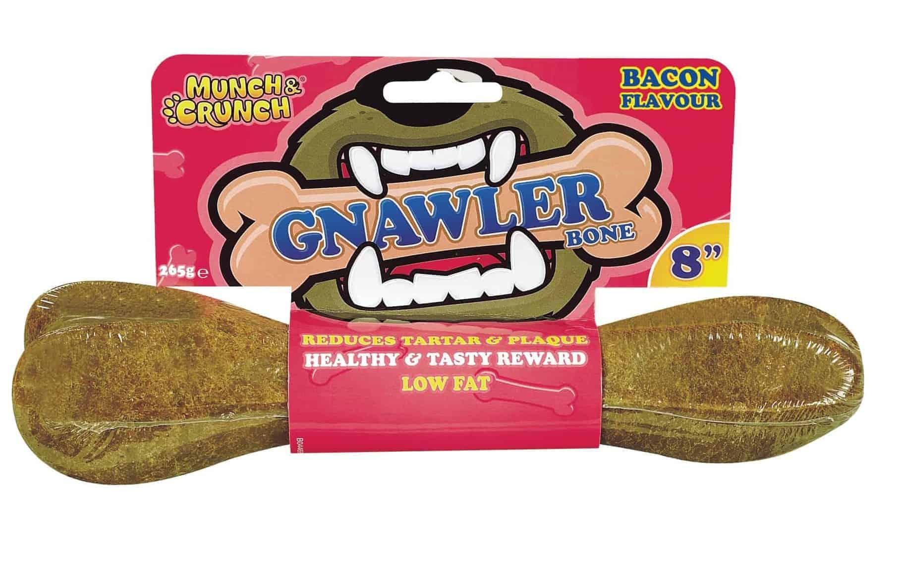 "Munch Crunch 8"" Bacon Gnawler Bone"