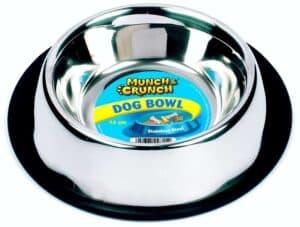 Munch Crunch Anti-Skid Dog Bowl Steel 340Ml