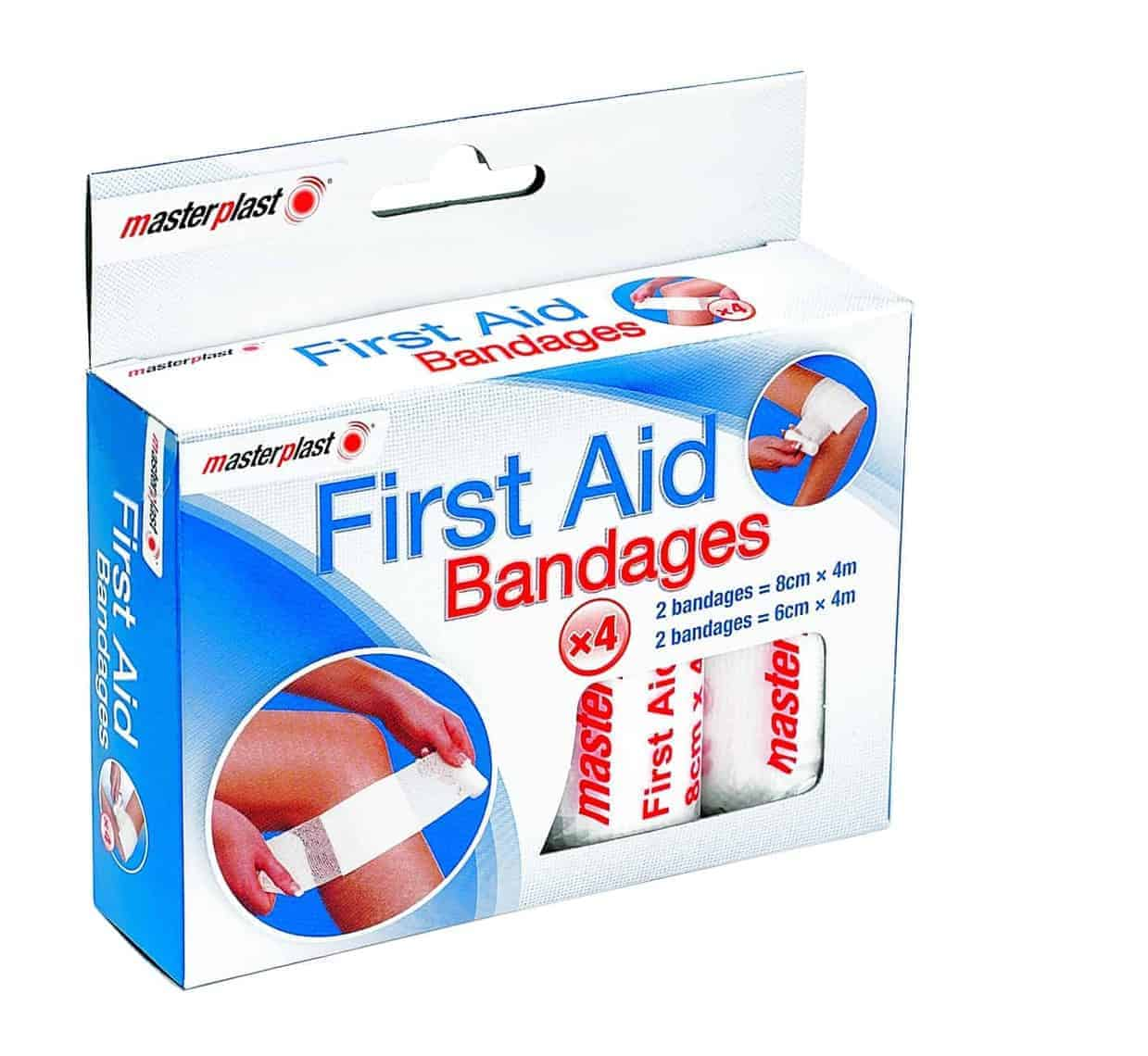 Master Plast First Aid Bandages 4pk