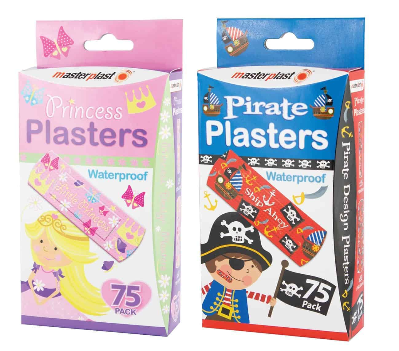 Master Plast Pirate & Princess Plasters 75Pk
