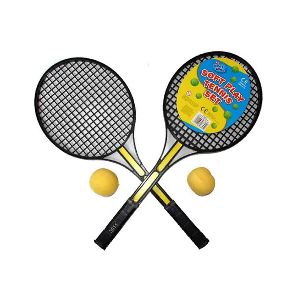 Twin Tennis Racquet With Foam Ball