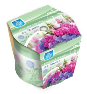 Pan Aroma Cut Flowers Scented Candle In Pot