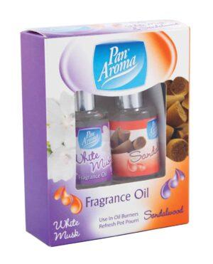 Pan Aroma Fragrance Oils White Musk and Sandalwood  2pk