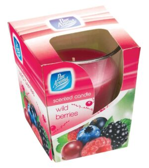 Pan Aroma Clear Glass Candle - Wild Berries