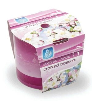 Pan Aroma  Straight Edge Sleeve Wrap Candle - Orchard Blossom