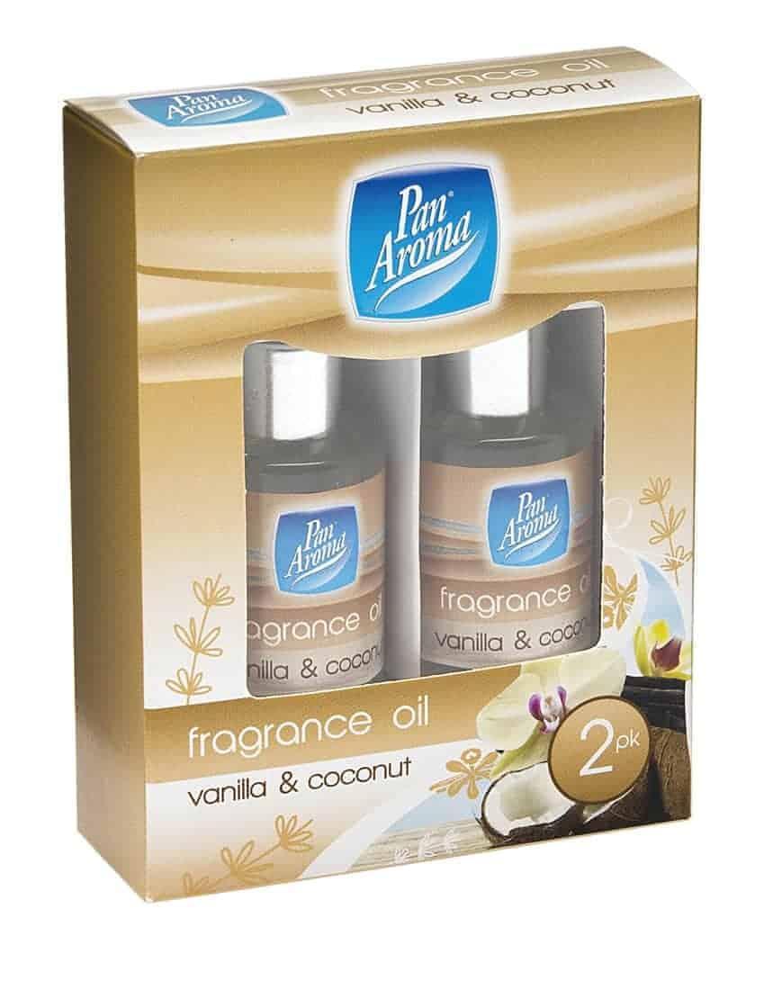 Pan Aroma  2Pc Fragrance Oils-Vanilla/Coconut