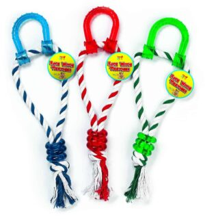Pets At Play  Rope With Teether-Asst