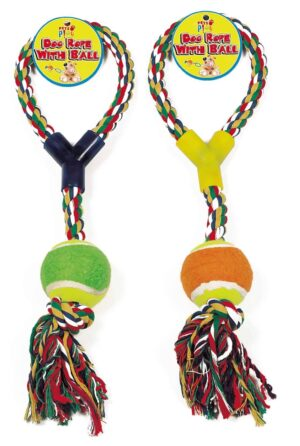 Pets At Play Dog Rope & Ball