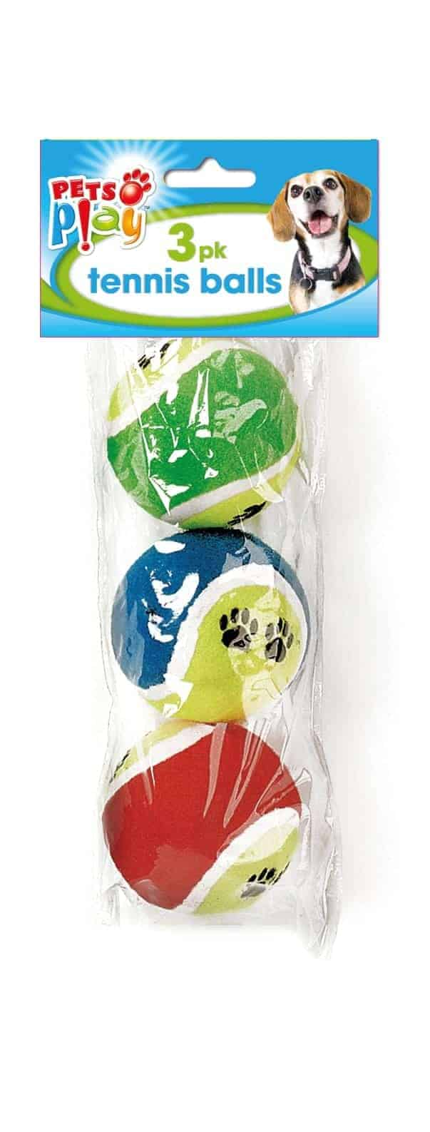 Pets At Play 3Pk Pet Tennis Balls