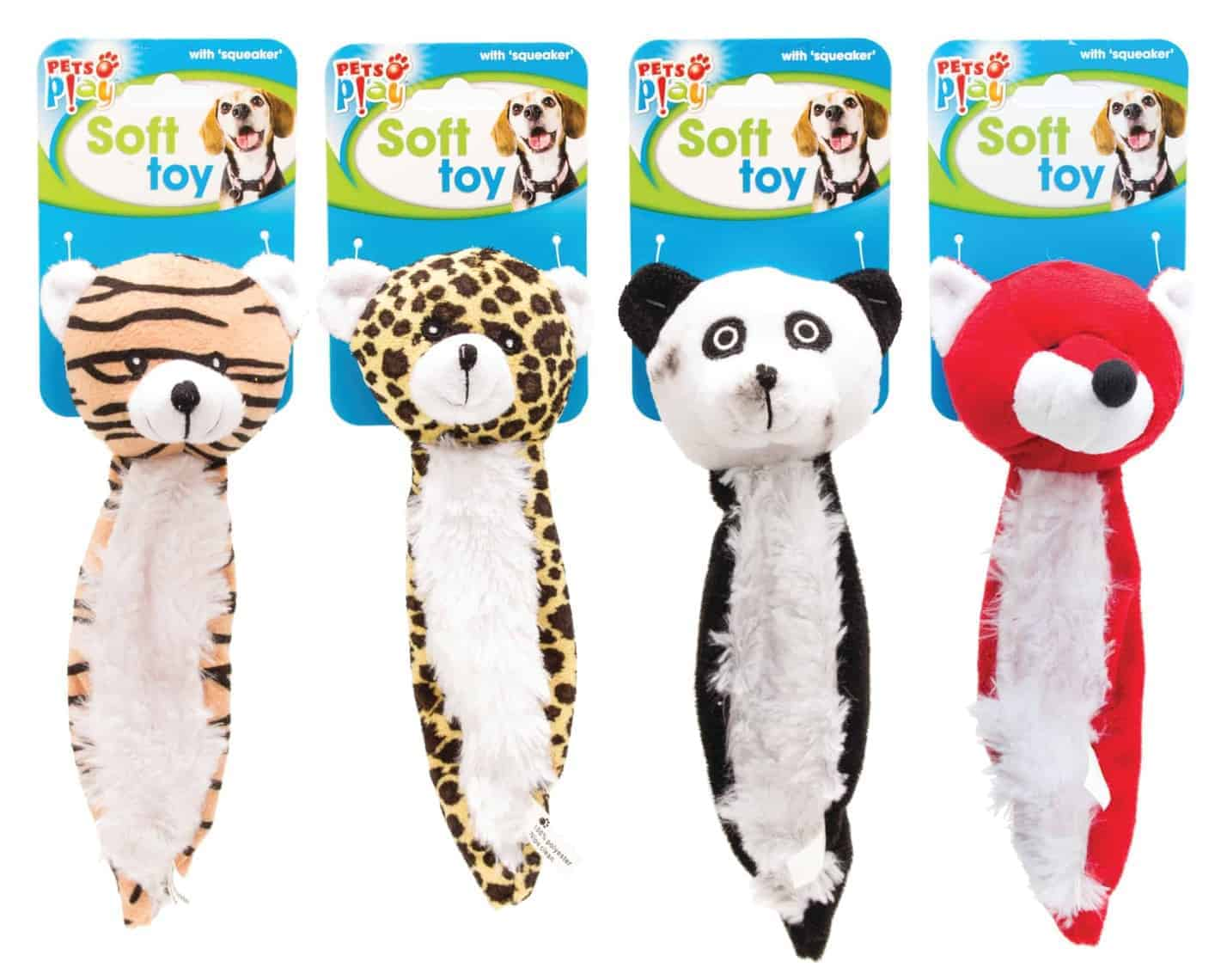 Pets At Play Soft Dog Toy - 4 Asst