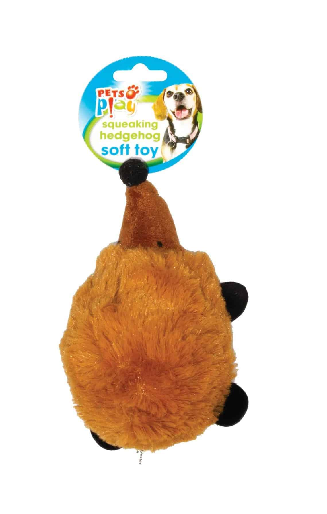 Pets At Play Stuffed Hedgehog Dog Toy 3 Assorted